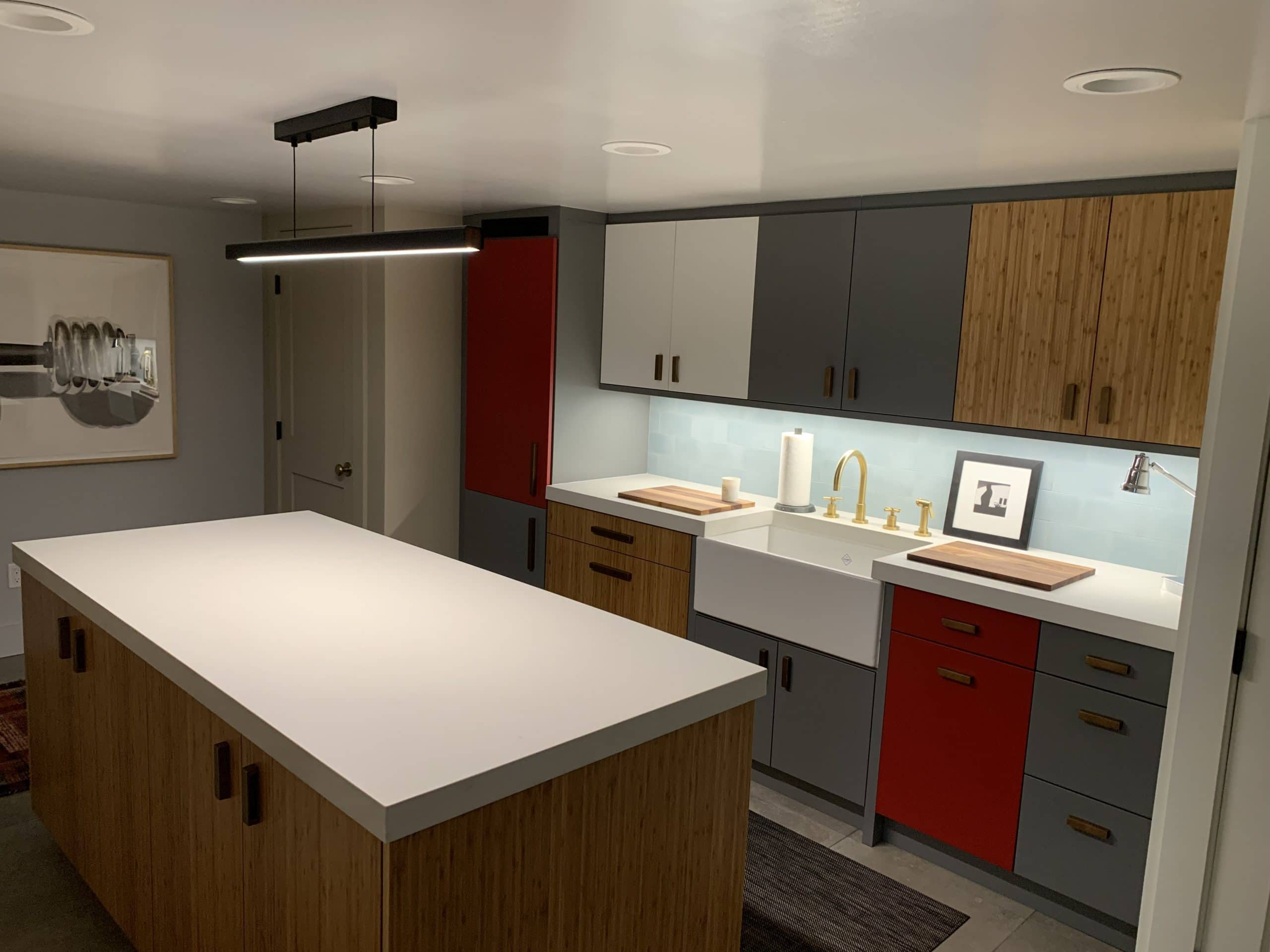Basement Remodel Modern Kitchen