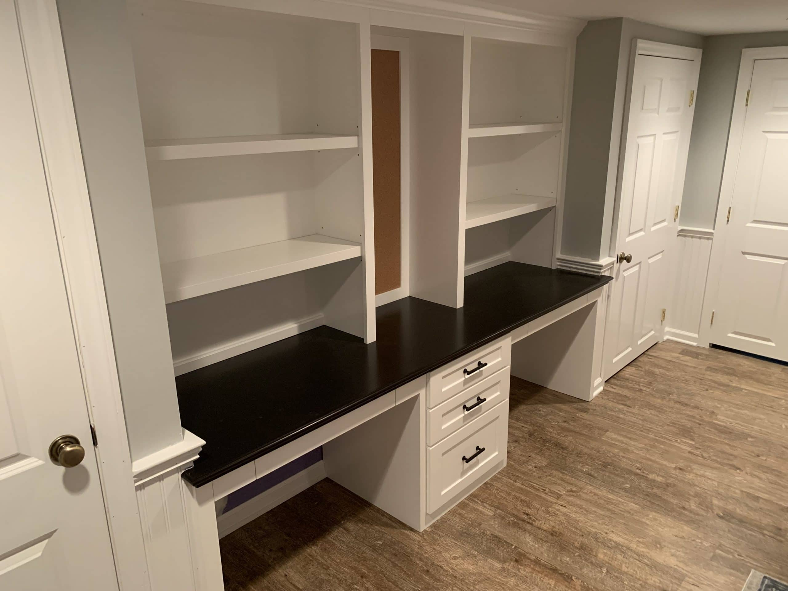 basement remodeling with shelving Chatham