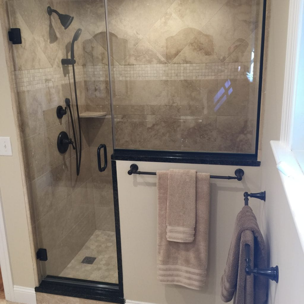 glass show bathroom remodeling chatham