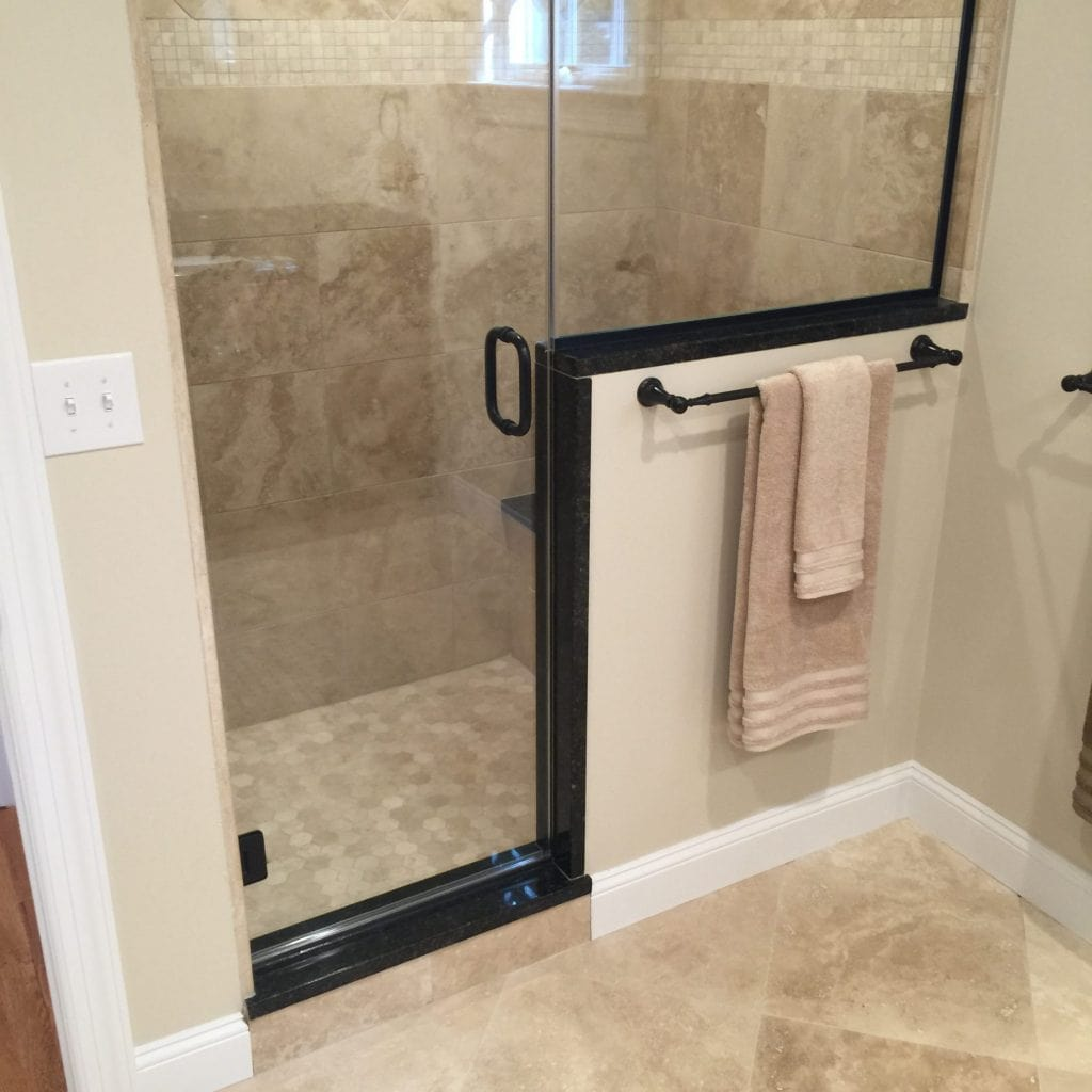 glass shower bathroom remodeling chatham