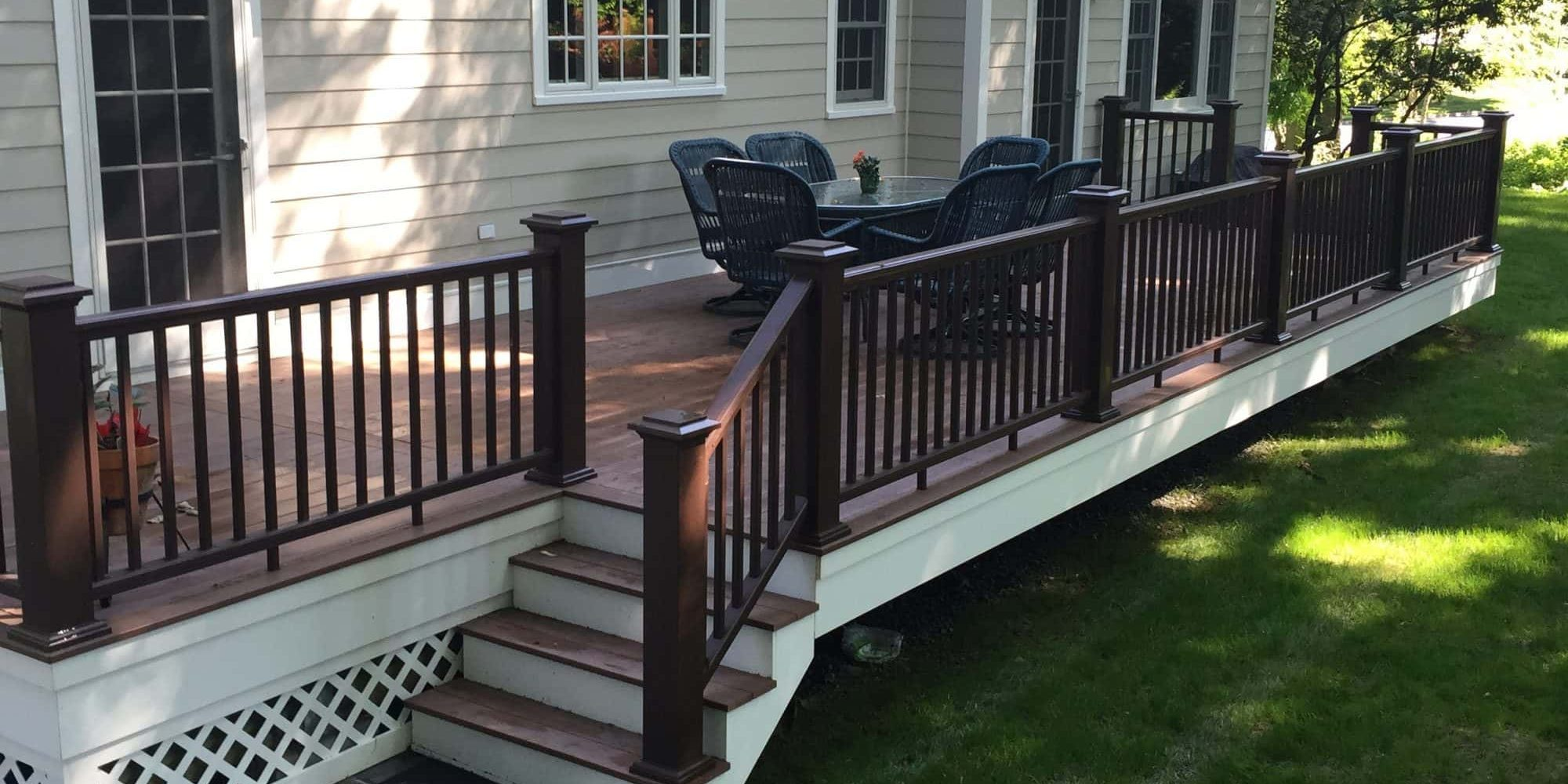 Deck Azek Brown Railings in Chatham