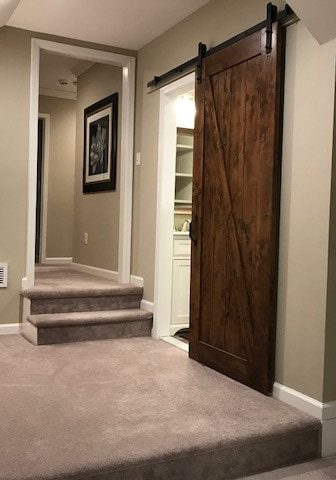Home Remodeling Barn Door Bathroom Entry